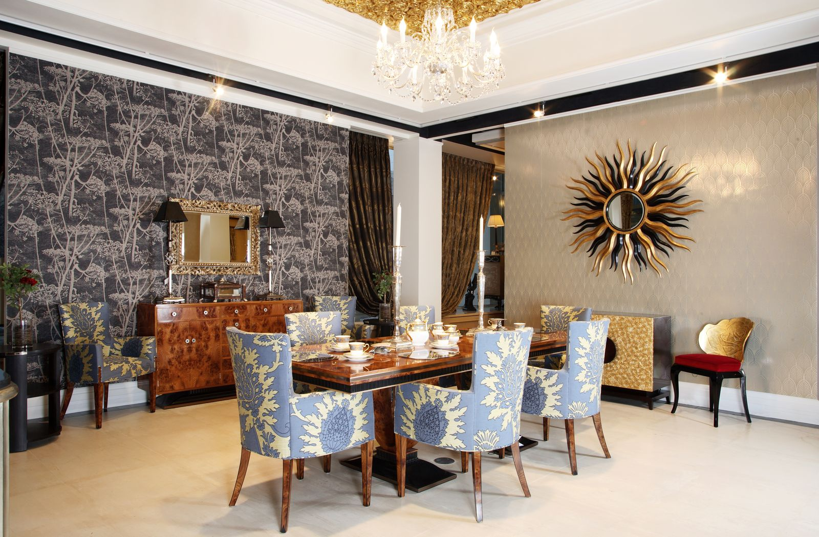 dining room in art deco style interiors gallery in moscow